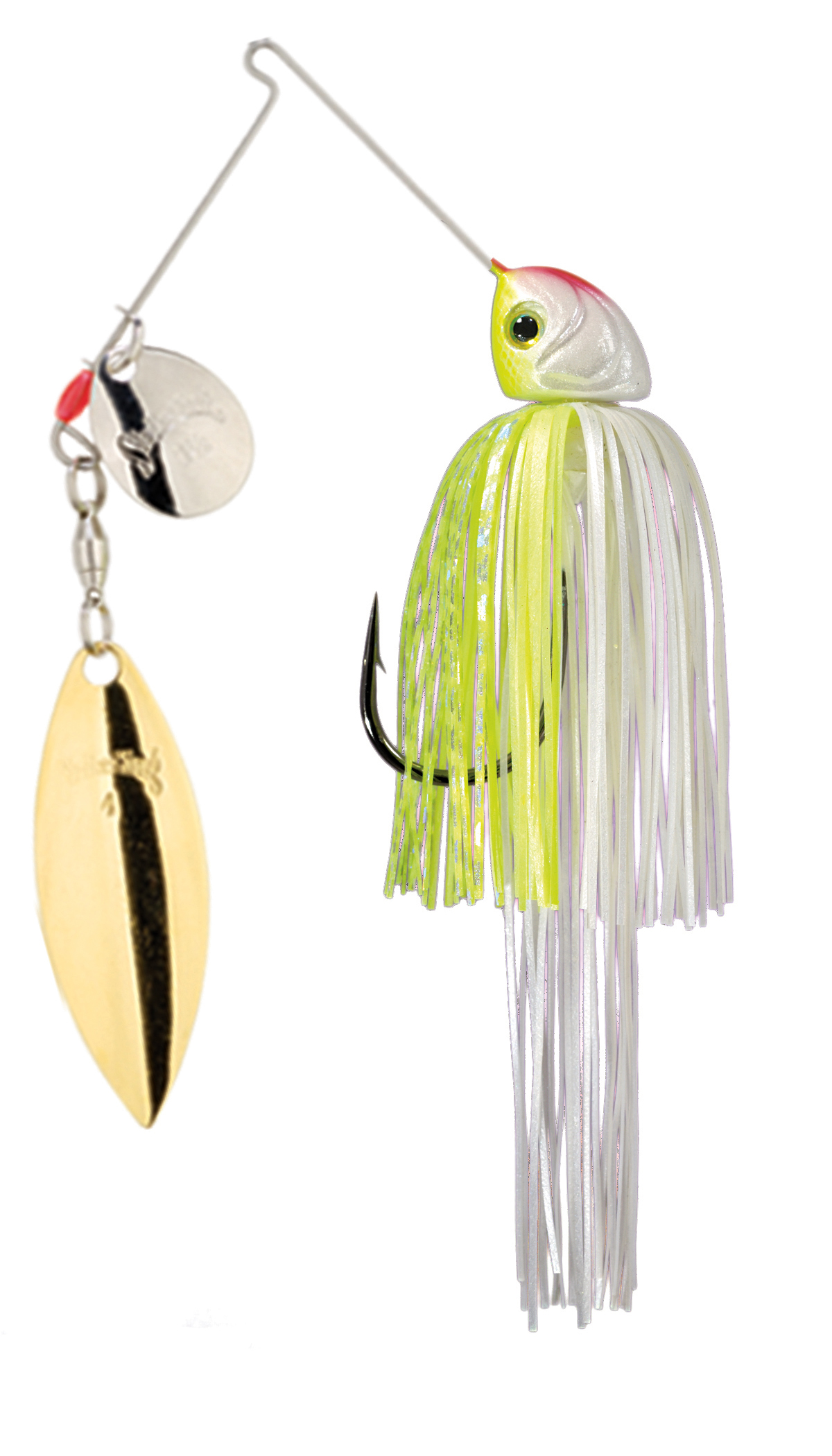 Strike King Lures – Spinnerbaits – Colorado Willow – Hack Attack Heavy Cover - 3/4oz - HAHC34CW-203SG - Chartreuse White