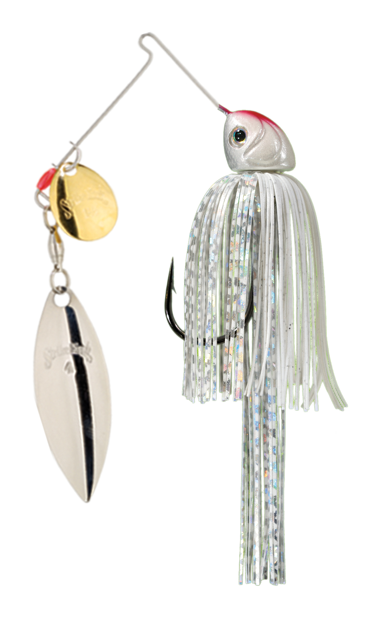 Strike King Lures – Spinnerbaits – Colorado Willow – Hack Attack Heavy Cover - 3/4oz - HAHC34CW-204GS - Super White