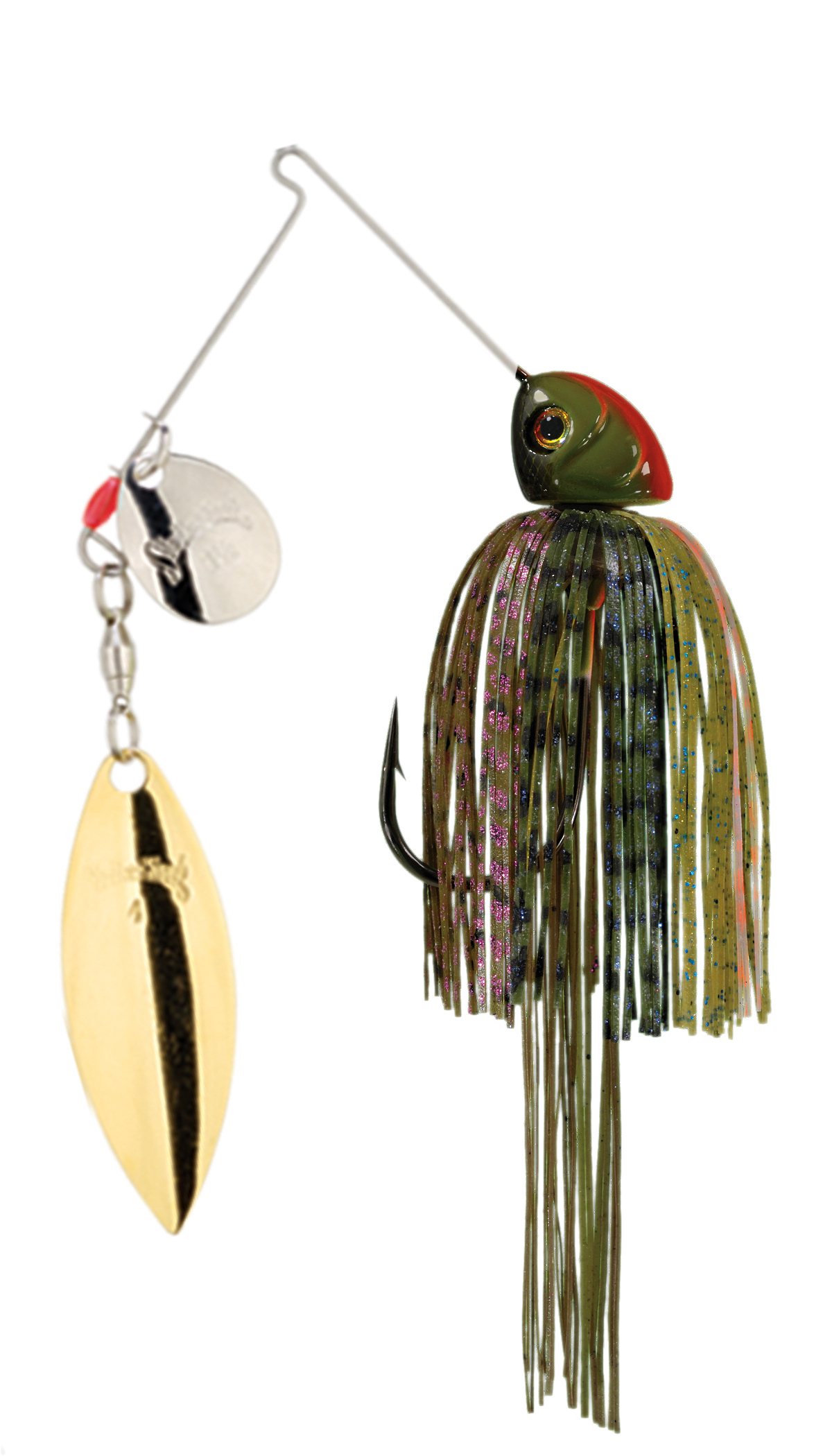 Strike King Lures – Spinnerbaits – Colorado Willow – Hack Attack Heavy Cover - 3/4oz - HAHC34CW-234SG - Bluegill