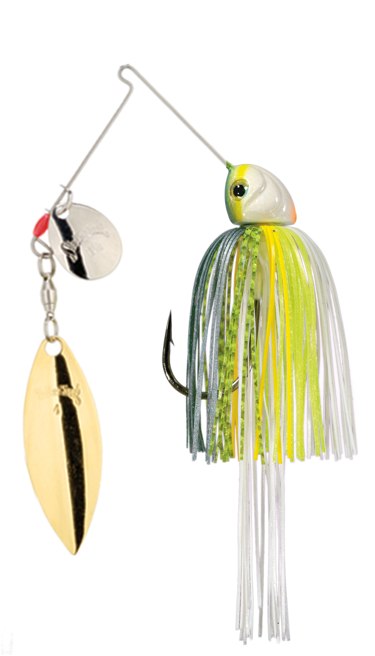 Strike King Lures – Spinnerbaits – Colorado Willow – Hack Attack Heavy Cover - 3/4oz - HAHC34CW-538SG - Chartreuse Sexy Shad