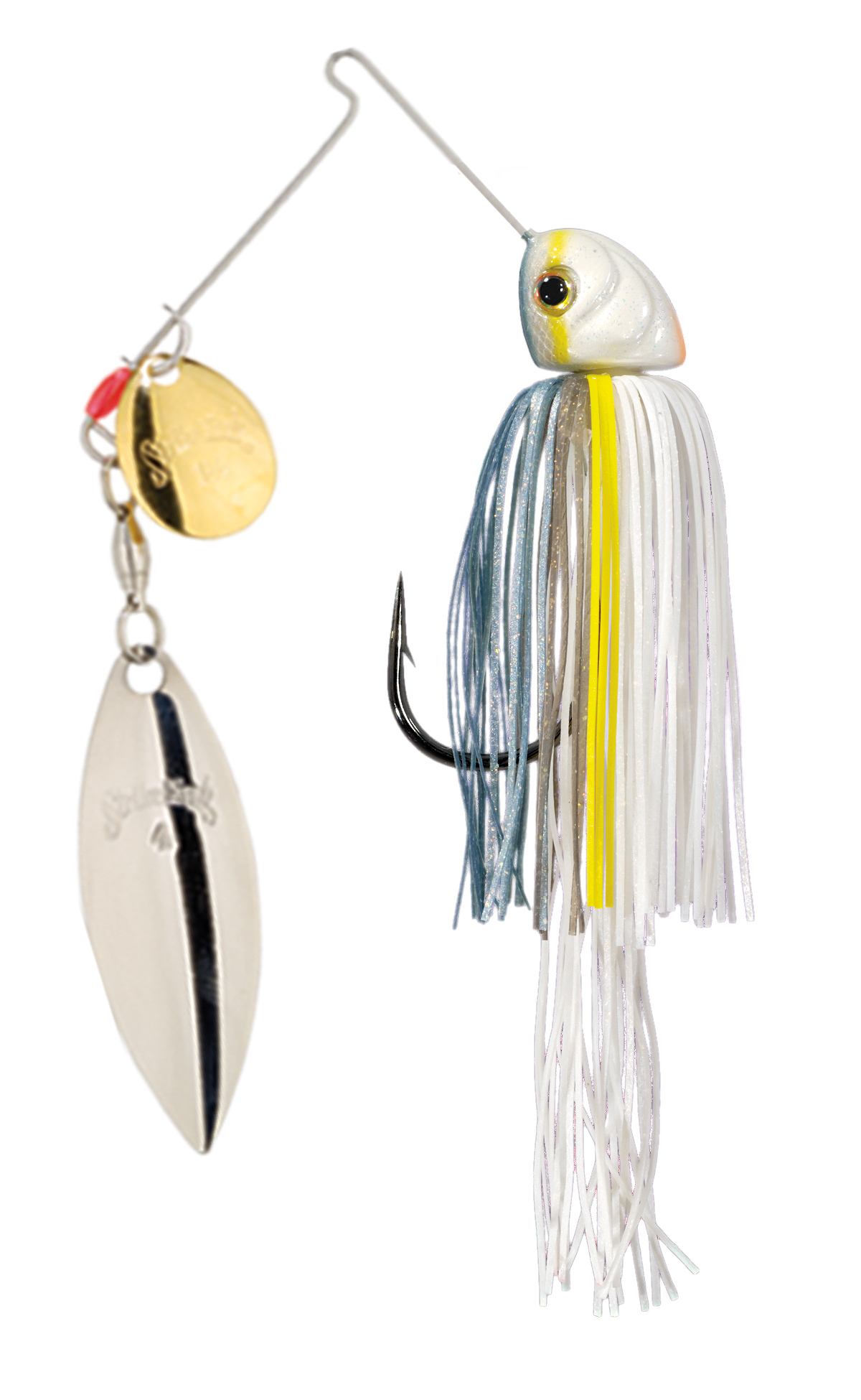 Strike King Lures – Spinnerbaits – Colorado Willow – Hack Attack Heavy Cover - 3/4oz -HAHC34CW-590GS– Sexy Shad,