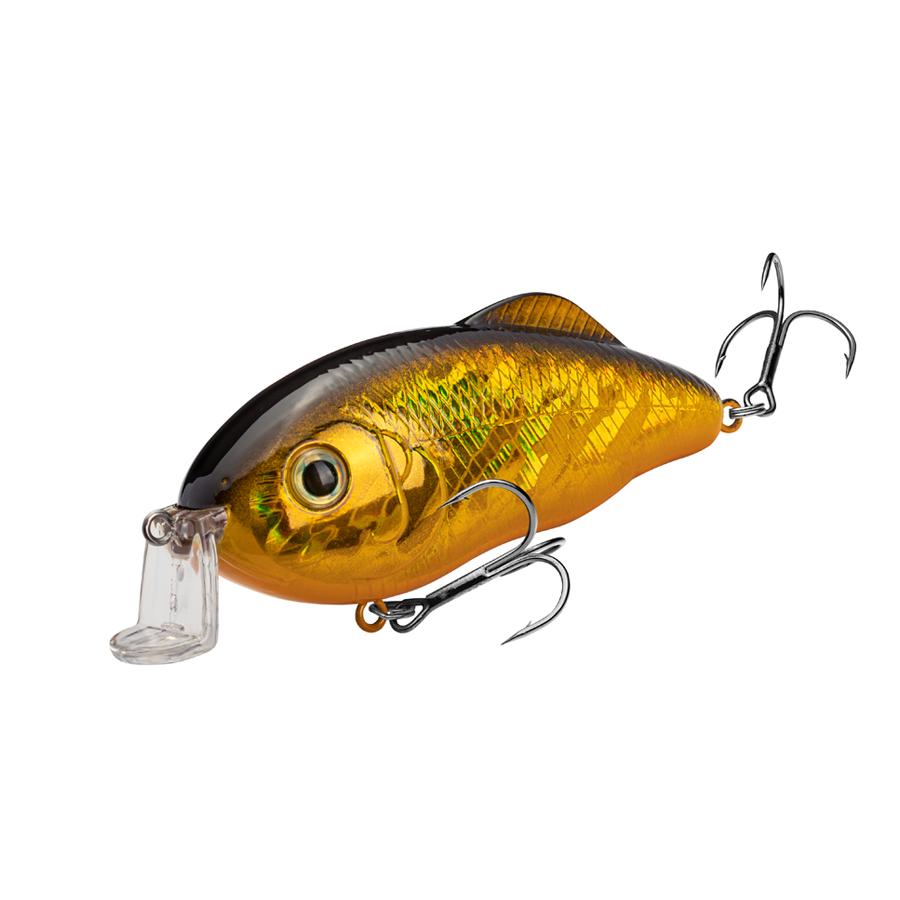 Strike King Lures – Crankbaits – Hybrid Hunter - HCHH-406 - Gold Blk Back
