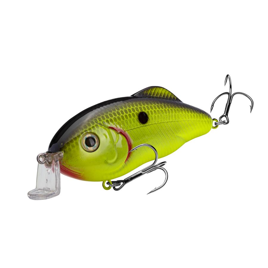 Strike King Lures – Crankbaits – Hybrid Hunter - HCHH-535 - Chartreuse Black Back