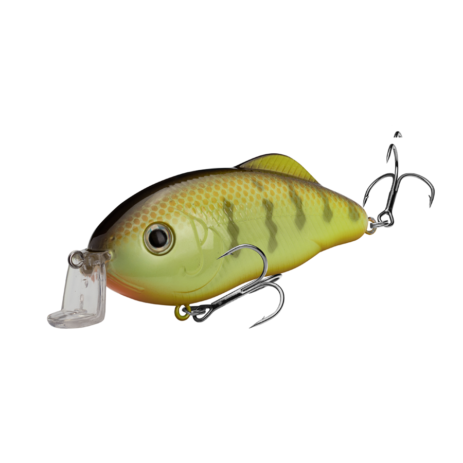 Strike King Lures – Crankbaits – Hybrid Hunter - HCHH-650 - Chartreuse Perch