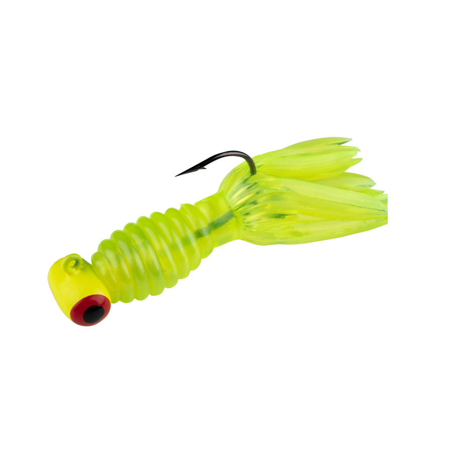 Strike King Lures – Mr. Crappie Panfish – Sausage Head with Thunder Body - 1/8oz - MRCSH116-83 - Hot Chart Chart Head