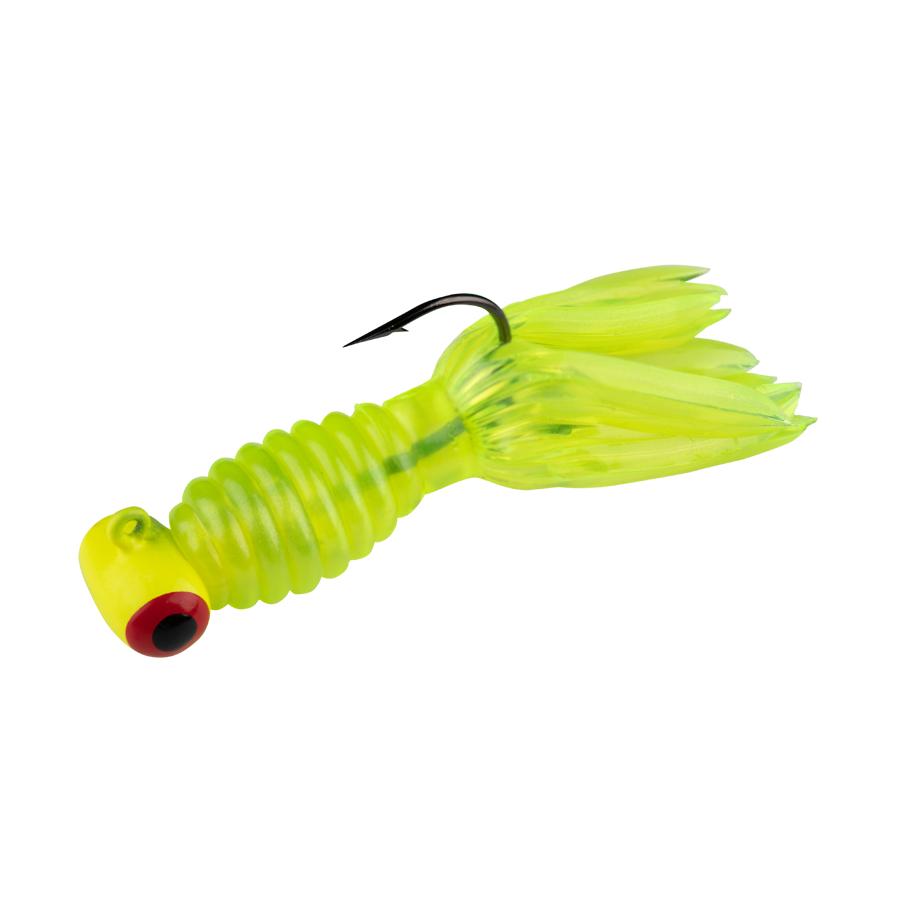 Strike King Lures – Mr. Crappie Panfish – Sausage Head with Thunder Body - 1/16oz - MRCSH18-72 - White White Head