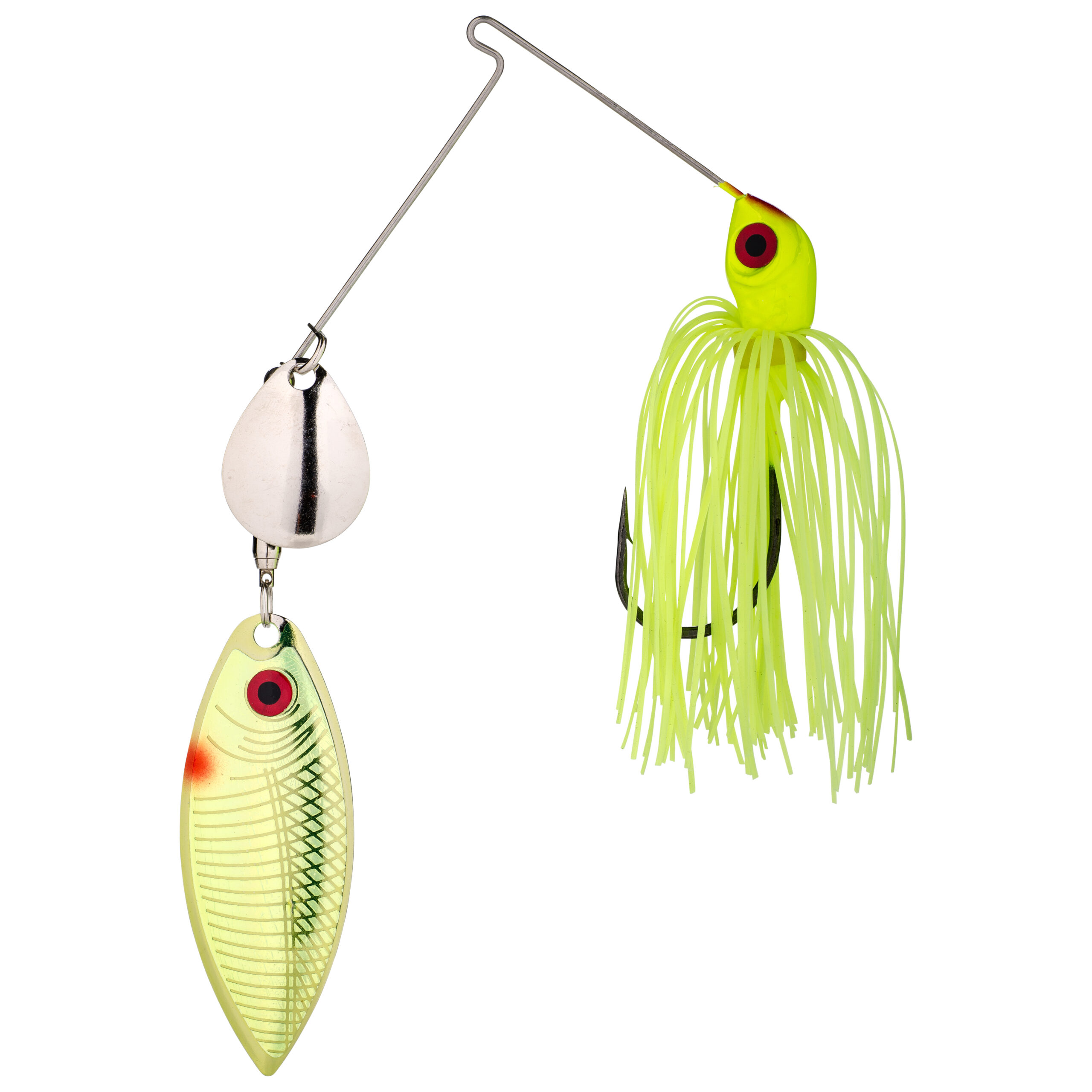 Strike King Lures – Spinnerbaits – Colorado Willow – Red Eyed Special - 3/8oz - REYE38CW-1 - Chartreuse