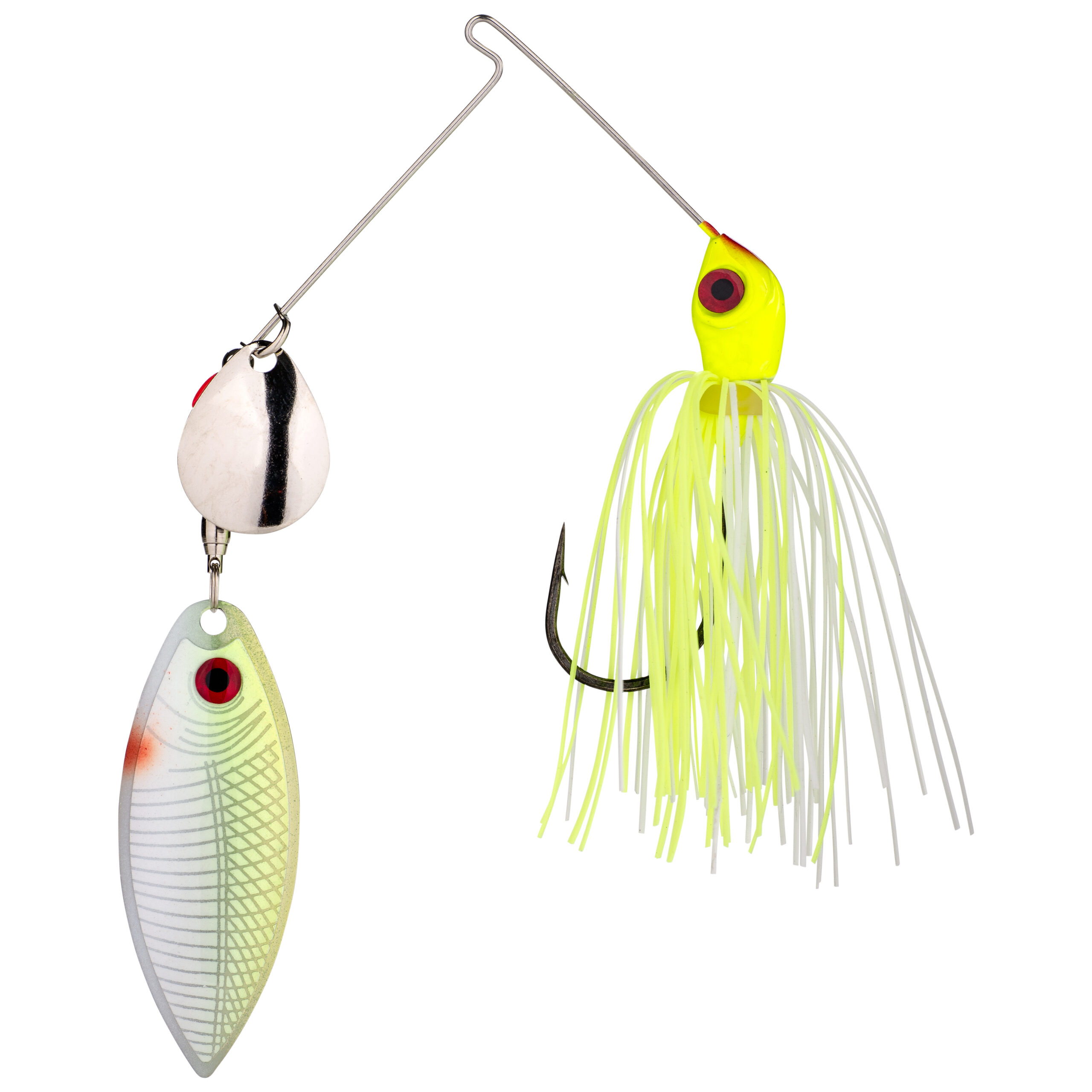Strike King Lures – Spinnerbaits – Colorado Willow – Red Eyed Special - 3/8oz - REYE38CW-3 - Chartreuse White