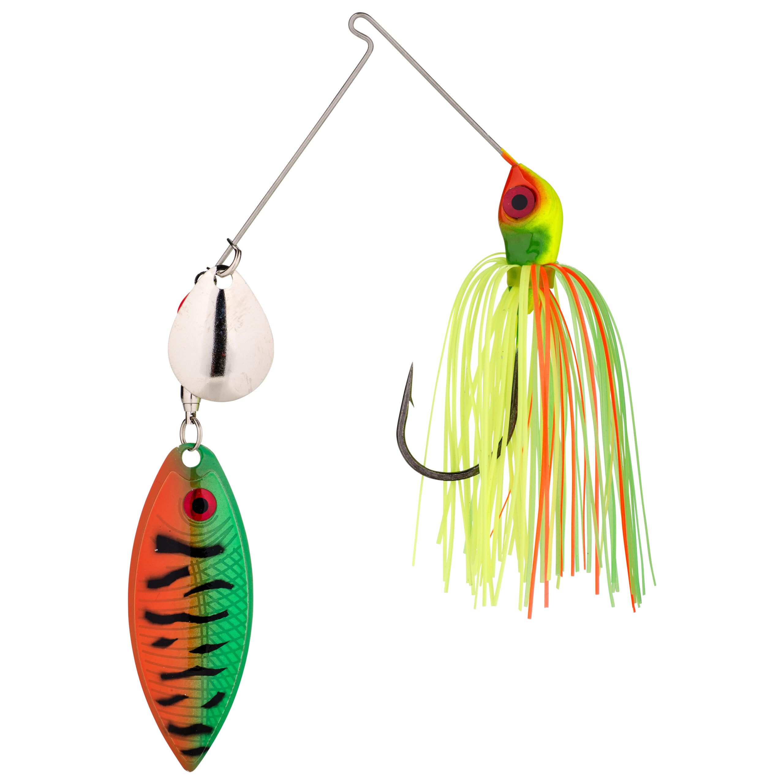 Strike King Lures – Spinnerbaits – Colorado Willow – Red Eyed Special - 3/8oz - REYE38CW-45 - Fire Tiger