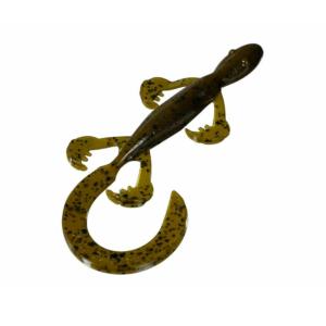 Strike King – Soft Plastic Lures – Creature Bait Rage Tail Lizard - RGLIZ6-16 - Watermelon Seed