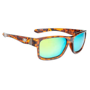 Strike King Sunglasses – Polarized – Pro Series -SG-P302– Shiny Tortoiseshell Frame Multi Layer Green Mirror Amber Base Lens