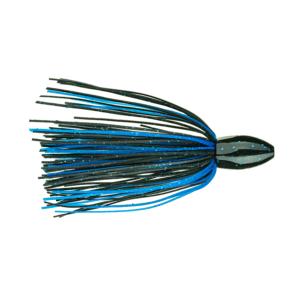 Strike King Fishing Weights – Tungsten – Skirted Slither Mat Punching Rig – 1oz - TGSLR1-2 - Black Blue Flake