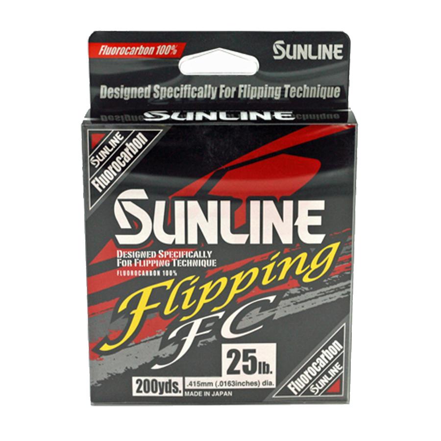 Sunline - Flipping FC - 200 YD - Flipping FC - 25 LB - Clear High Vis Yellow
