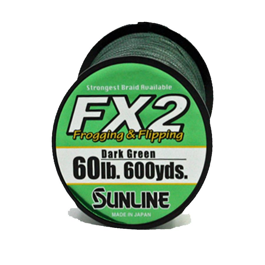 Sunline - FX2 Braid - 600 YD - FX2 Braid - 60 LB - Dark Green