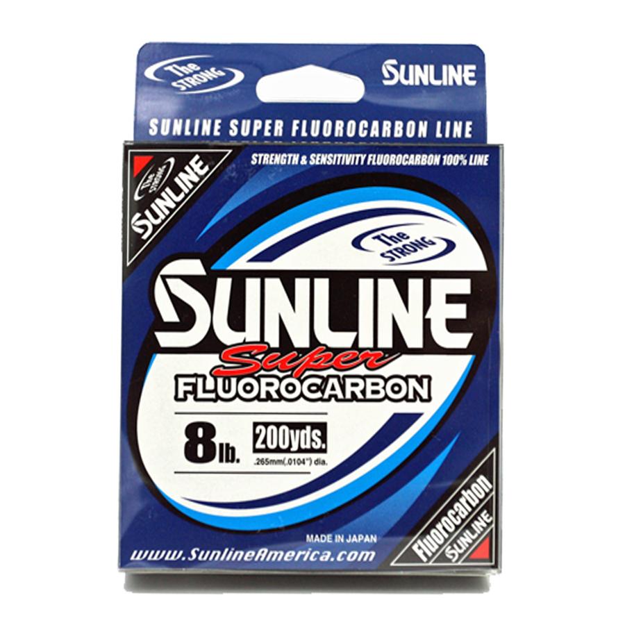 Sunline - Super Fluorocarbon - 200 YD - Super Fluorocarbon - 8 LB - Clear