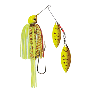 Strike King Lures – Spinnerbaits – Double Willow - Painted Blade 1/2oz - TGSB12WW-562P Chartreuse Belly Craw