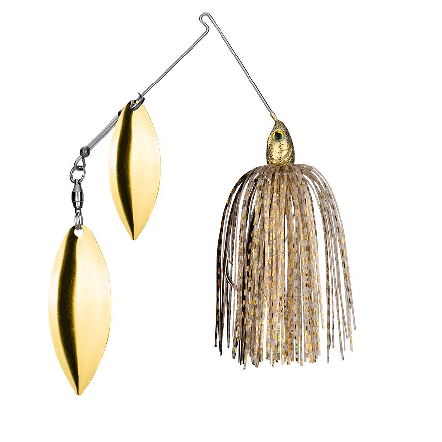 Strike King Lures – Spinnerbaits – Double Willow – Tour Grade - 1/2oz - TGSB12WW-215 - Gold Shiner