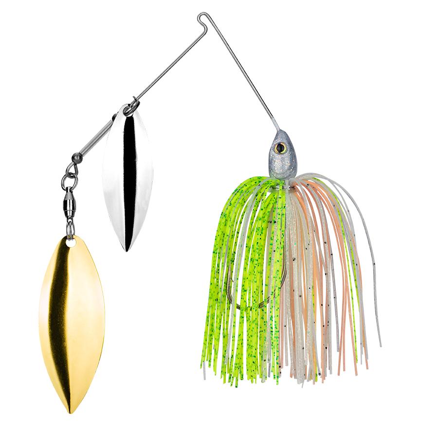 Strike King Lures – Spinnerbaits – Double Willow – Tour Grade - 1/2oz - TGSB12WW-217 - Sun Perch