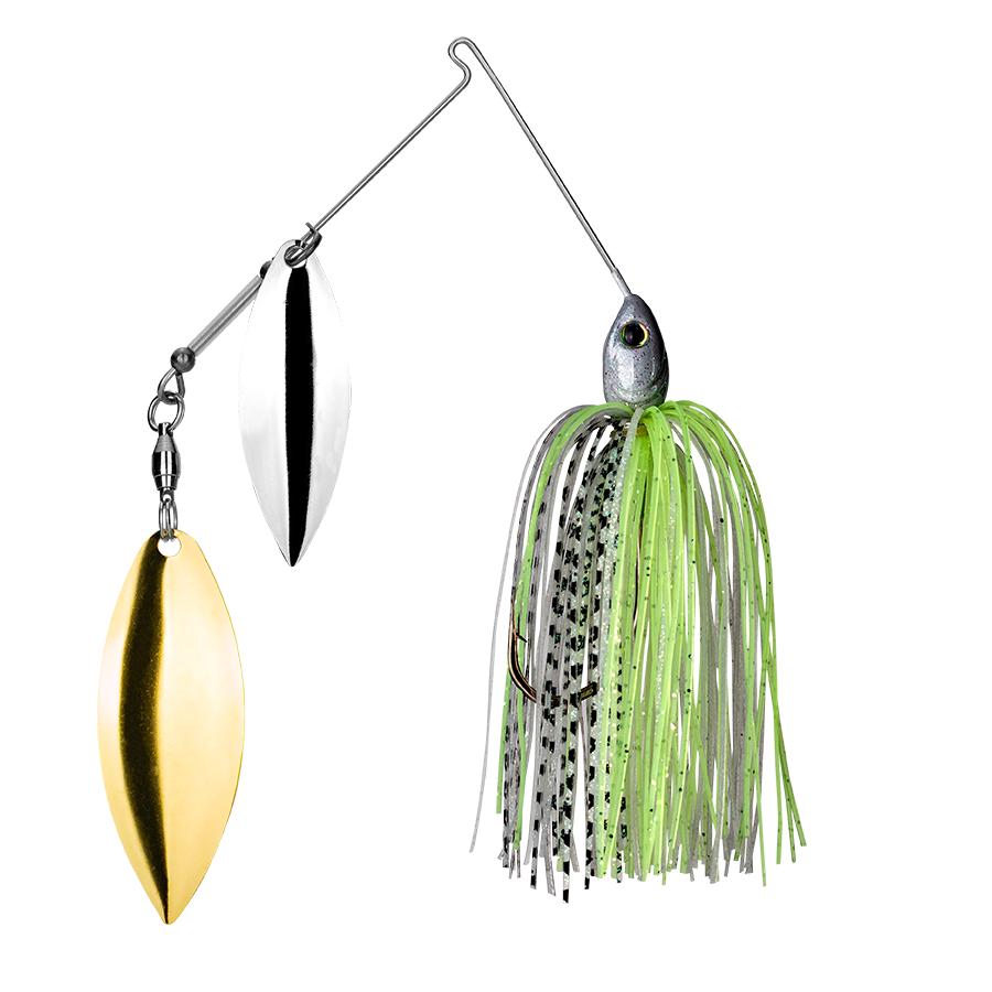 Strike King Lures – Spinnerbaits – Double Willow – Tour Grade - 1/2oz - TGSB12WW-291 - Spot Remover