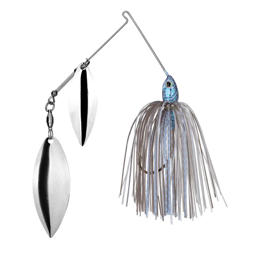 Strike King Lures – Spinnerbaits – Double Willow – Tour Grade - 1/2oz - TGSB12WW-45 - Blue Glimmer