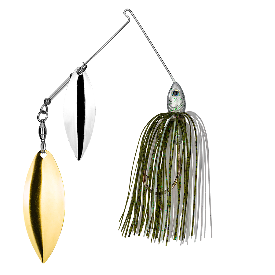 Strike King Lures – Spinnerbaits – Double Willow – Tour Grade - 1/2oz - TGSB12WW-453 - Olive Shad