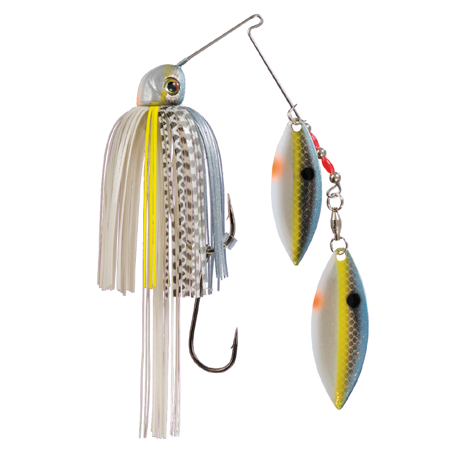 Strike King Lures – Spinnerbaits – Double Willow – Painted Blade - 1/2oz - TGSB12WW-514P - Chrome Sexy Shad