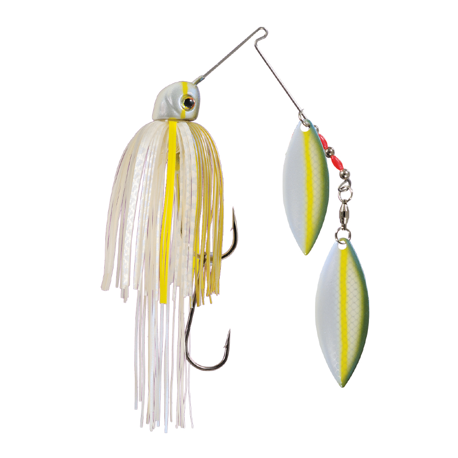 Strike King Lures – Spinnerbaits – Double Willow – Painted Blade - 1/2oz - TGSB12WW-586P - Sexy Blue Back Herring