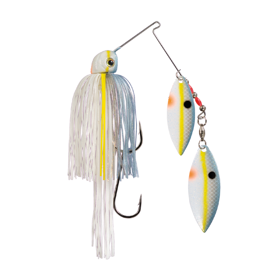 Strike King Lures – Spinnerbaits – Double Willow – Painted Blade - 1/2oz - TGSB12WW-590P - Sexy Shad