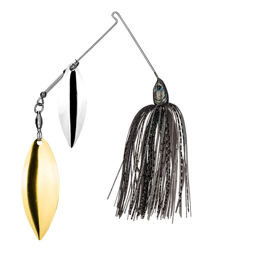 Strike King Lures – Spinnerbaits – Double Willow – Tour Grade - 3/8oz - TGSB38WW-288 - Mouse