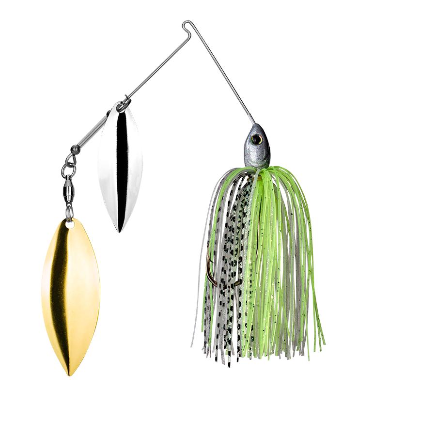 Strike King Lures – Spinnerbaits – Double Willow – Tour Grade - 3/8oz - TGSB38WW-291 - Spot Remover