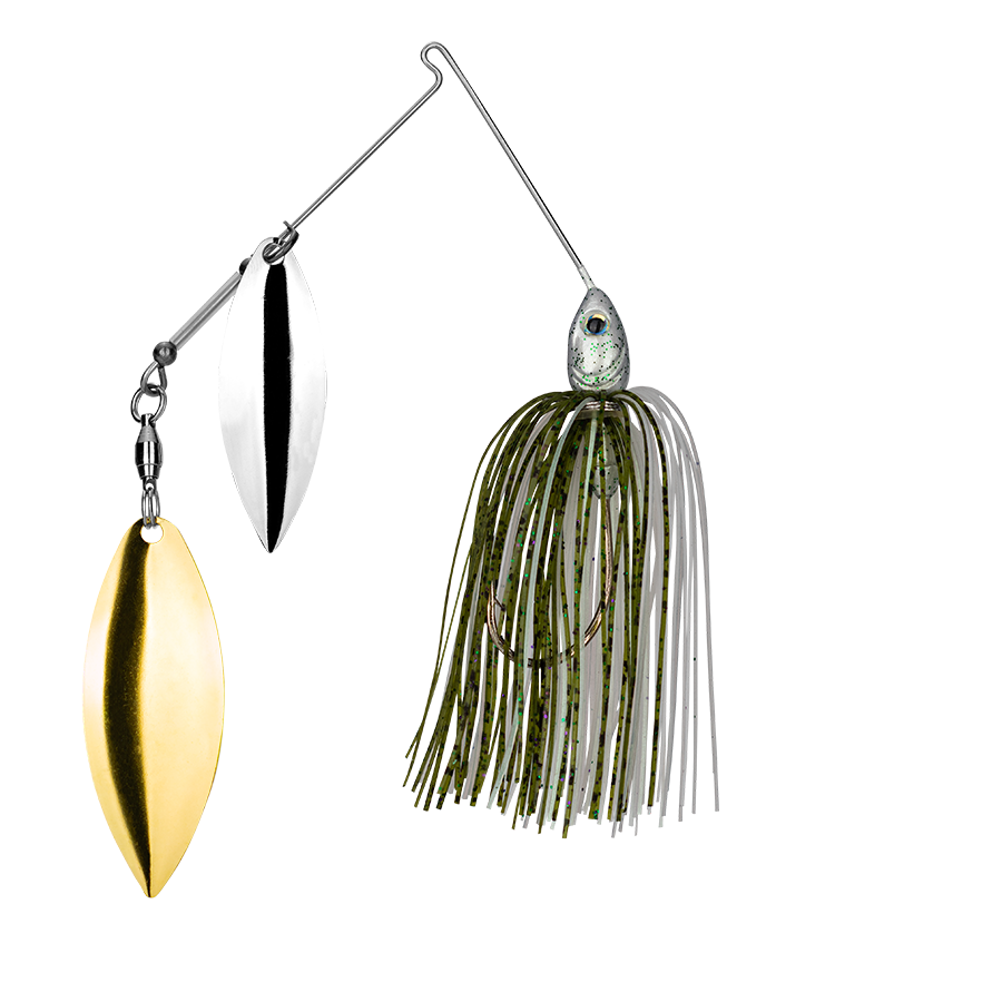 Strike King Lures – Spinnerbaits – Double Willow – Tour Grade - 3/8oz - TGSB38WW-453 - Olive Shad