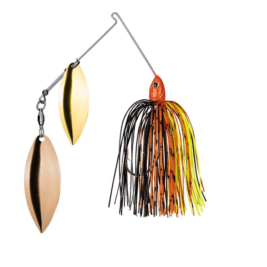 Strike King Lures – Spinnerbaits – Double Willow – Tour Grade - 3/8oz - TGSB38WW-569 - Green Tomato