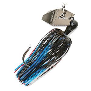 Z-MAN – Chatterbait – Elite – Bladed Vibrating Swim Jig – 3/8oz - CB-EL38-03 - BLACK BLUE
