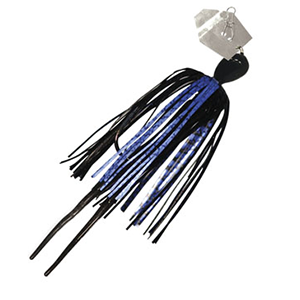 Z-MAN – Chatterbait – Micro – Bladed Vibrating Swim Jig – 1/8oz - CB-MICRO18-04 - BLUE BLACK
