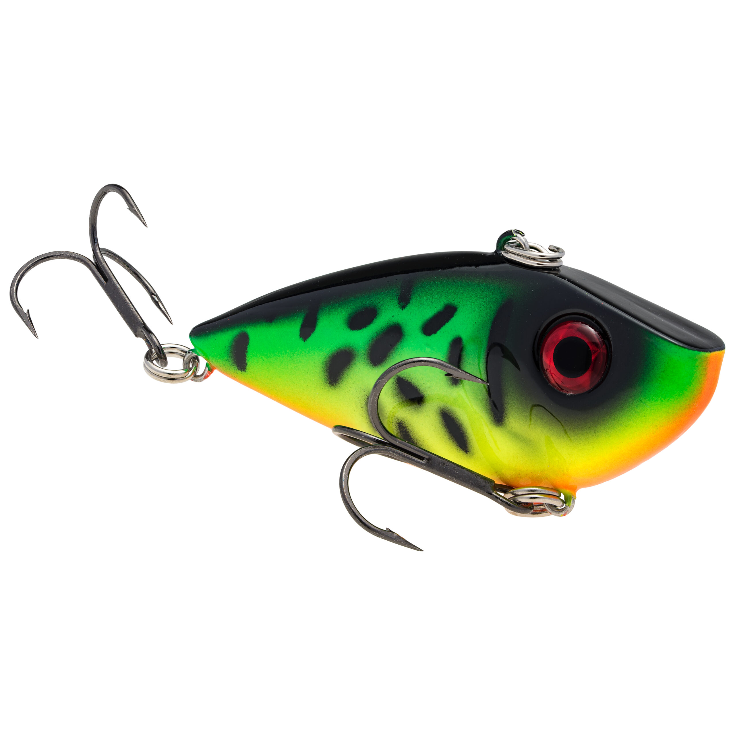 Strike King Lures – Crankbaits – Lipless Rattle Trap – Red Eyed Shad - 1/4oz - REYESD14-419 - Fire Tiger