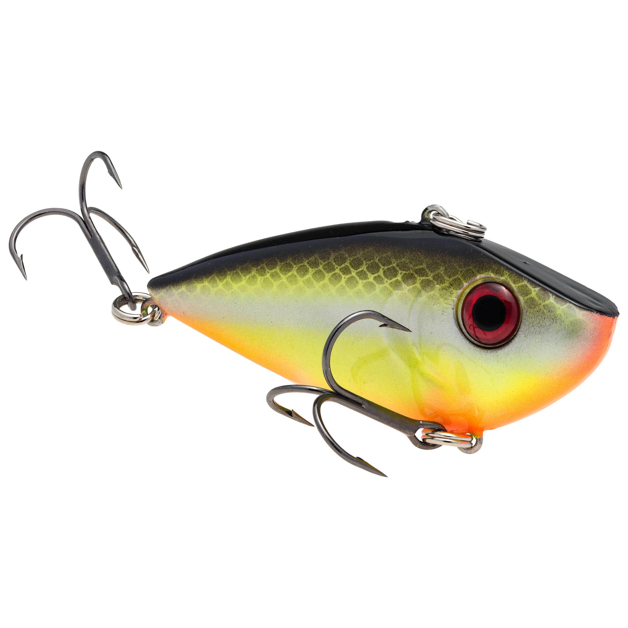 Strike King Lures – Crankbaits – Lipless Rattle Trap – Red Eyed Shad - 1/4oz - REYESD14-432 - Chartreuse Baitfish