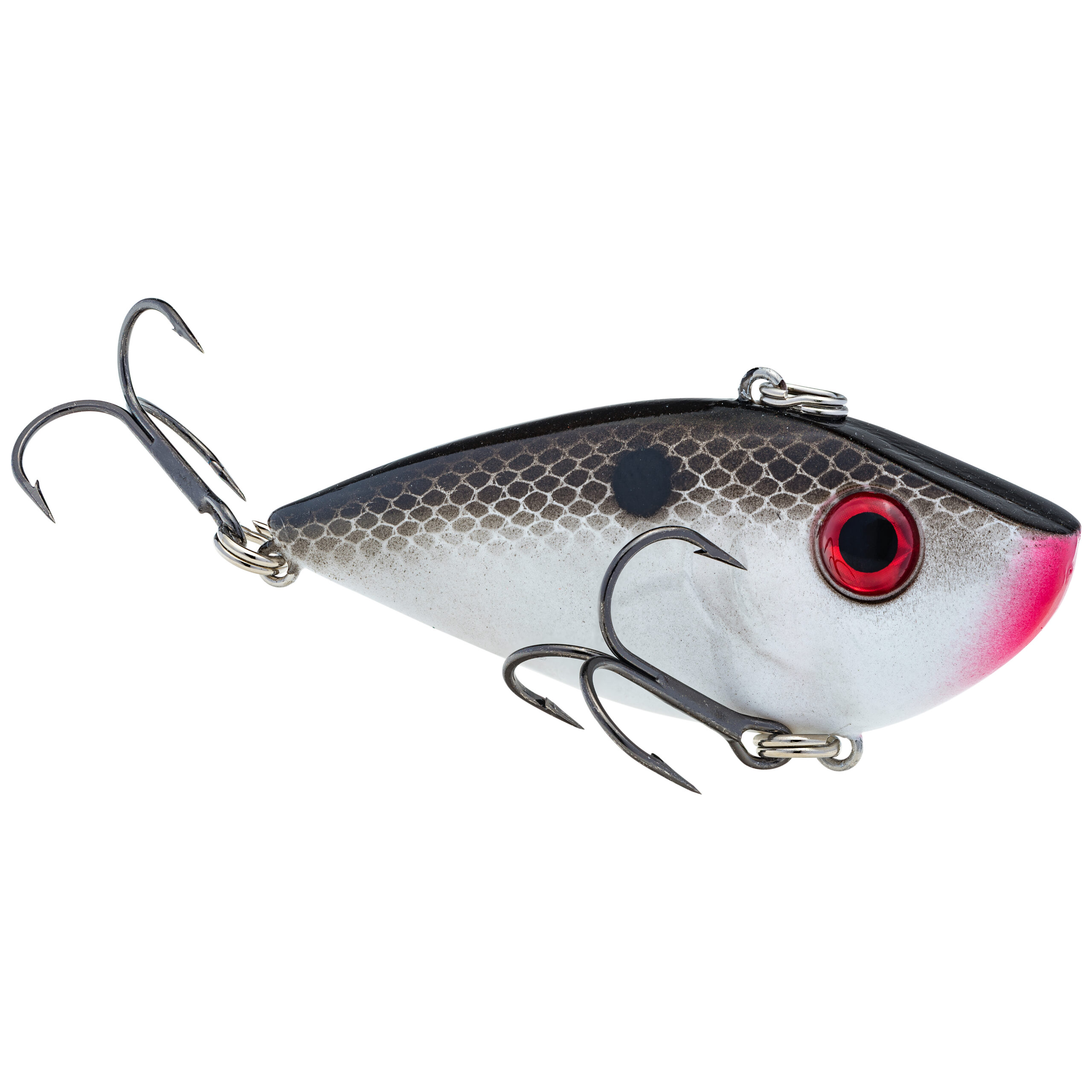 Strike King Lures – Crankbaits – Lipless Rattle Trap – Red Eyed Shad - 1/4oz - REYESD14-511 - Gizzard Shad
