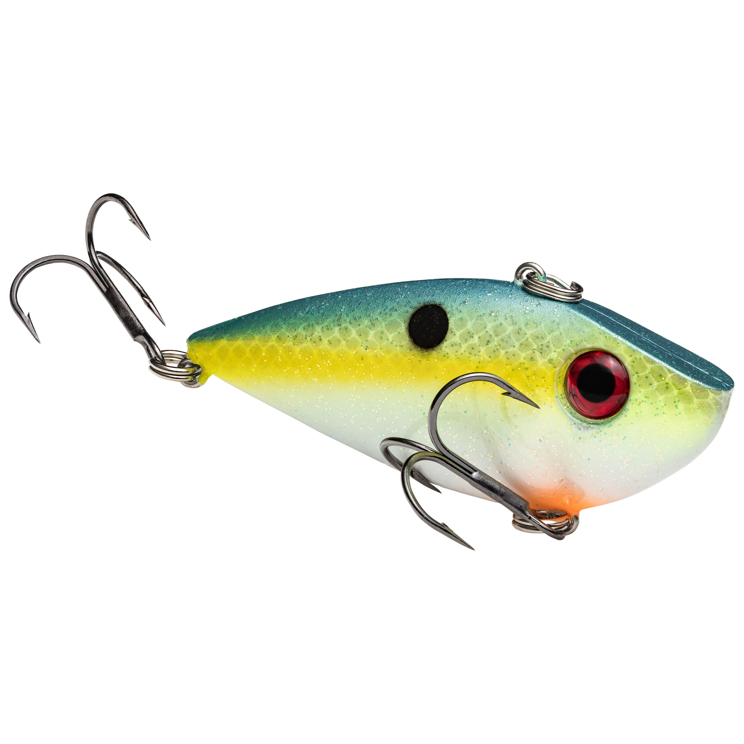 Strike King Lures – Crankbaits – Lipless Rattle Trap – Red Eyed Shad - 1/4oz - REYESD14-538 - Chartreuse Sexy Shad