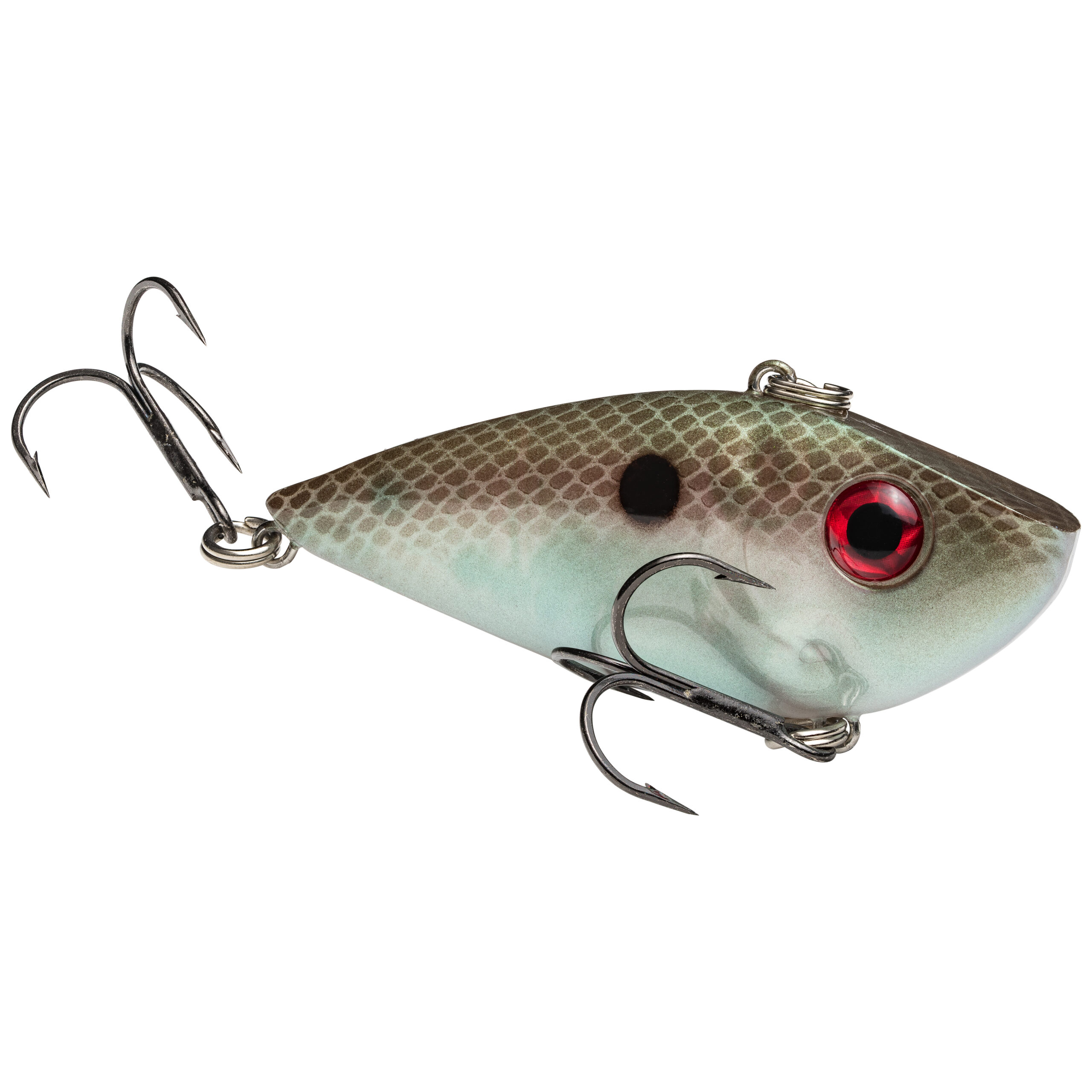 Strike King Lures – Crankbaits – Lipless Rattle Trap – Red Eyed Shad - 1/4oz - REYESD14-568 - Green Gizzard Shad