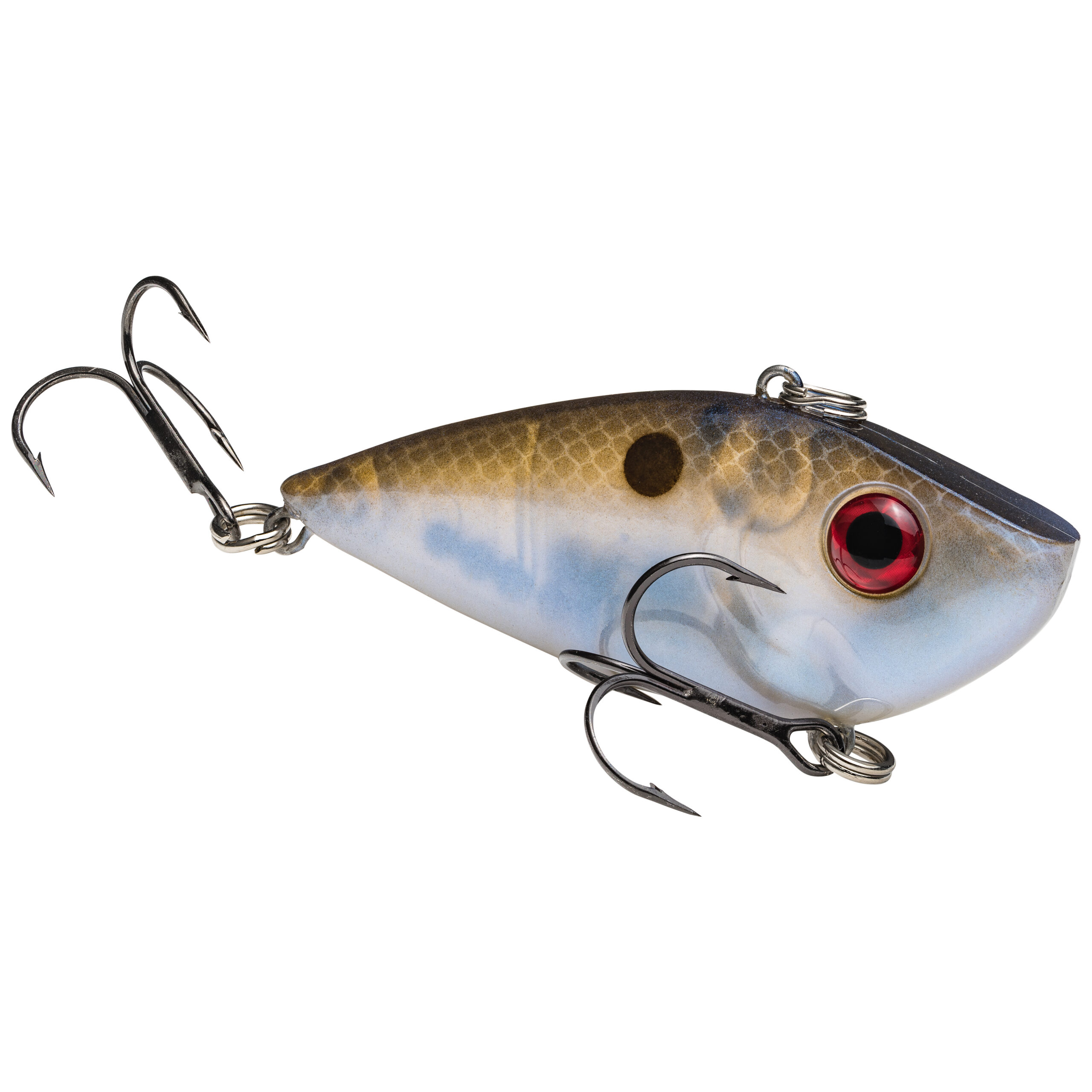 Strike King Lures – Crankbaits – Lipless Rattle Trap – Red Eyed Shad - 1/4oz - REYESD14-583 - Blue Gizzard Shad
