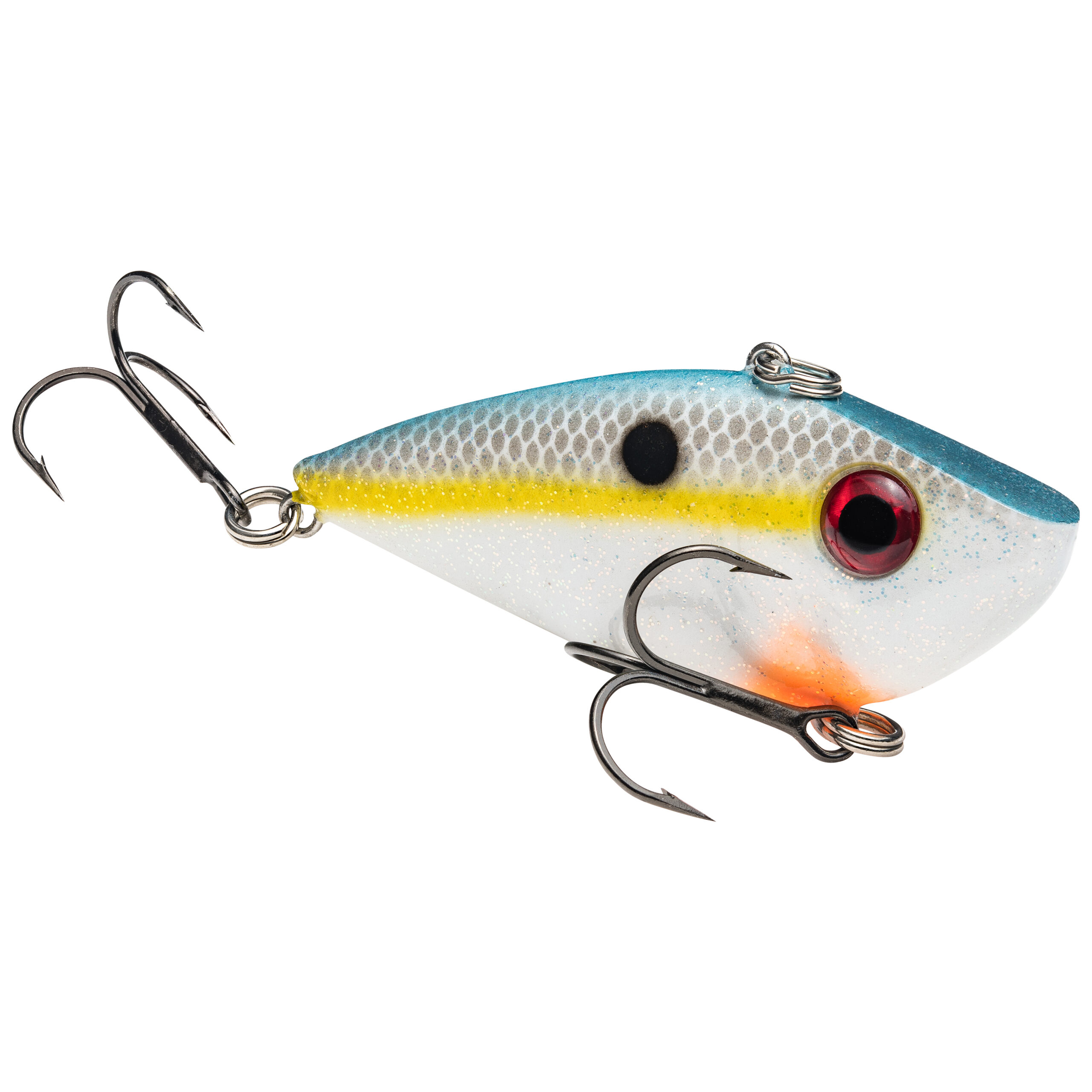 Strike King Lures – Crankbaits – Lipless Rattle Trap – Red Eyed Shad - 1/4oz - REYESD14-590 - Sexy Shad