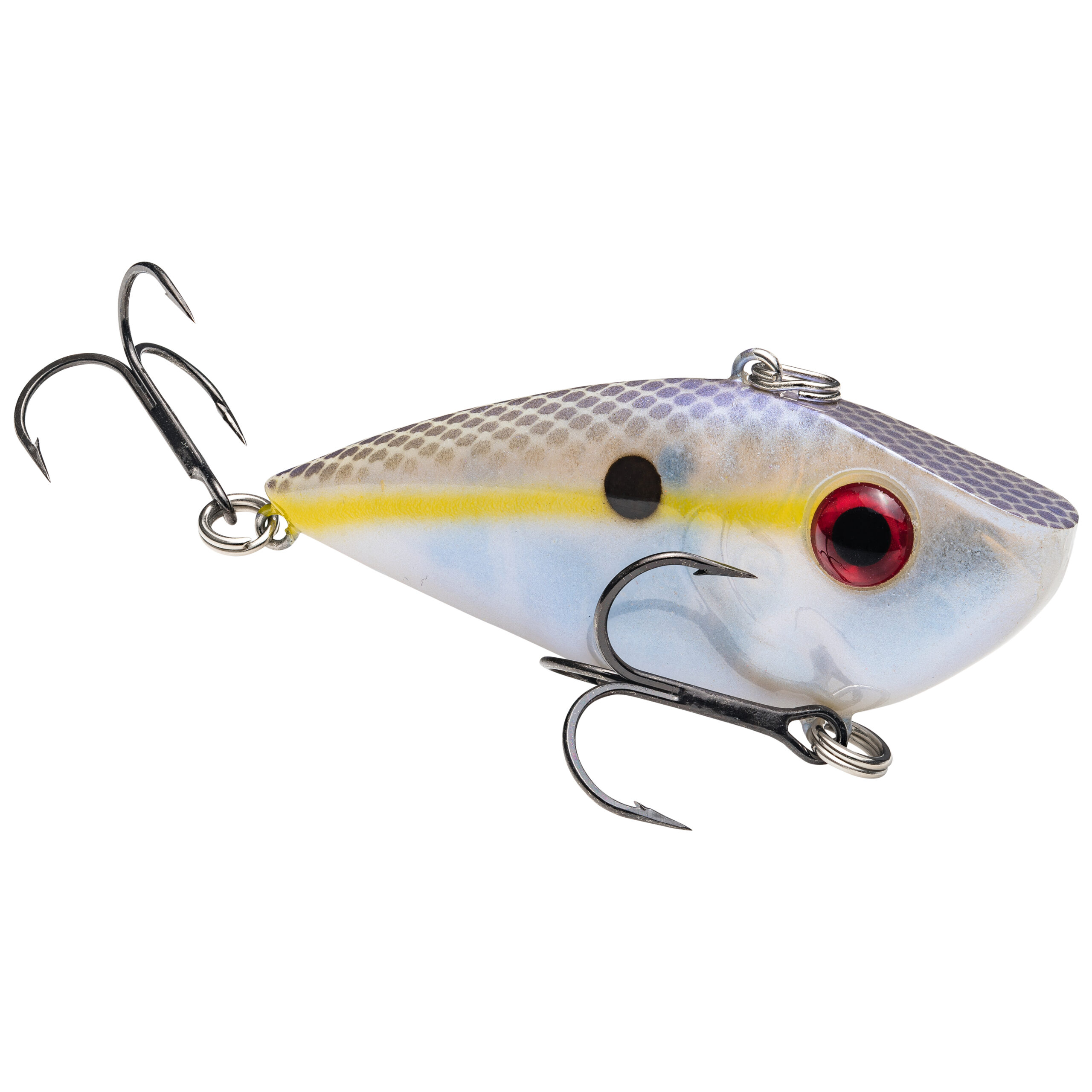 Strike King Lures – Crankbaits – Lipless Rattle Trap – Red Eyed Shad - 1/4oz - REYESD14-598 - Chartreuse Shad