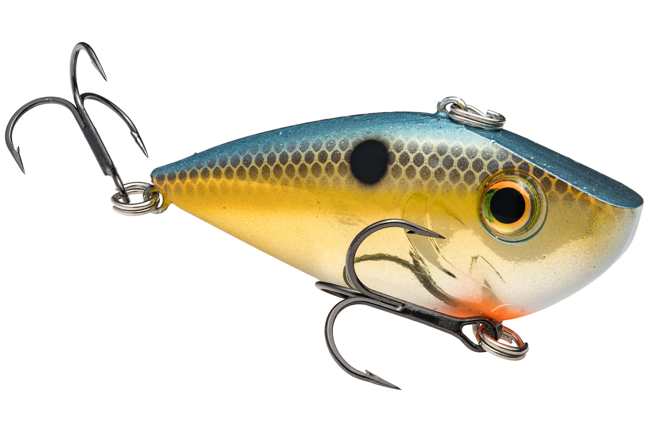 Strike King Lures – Crankbaits – Lipless Rattle Trap – Red Eyed Shad - 1/4oz - REYESD14-620 - Gold Sexy Shad