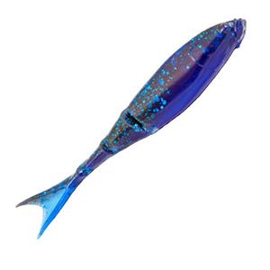 Z-MAN – ElaZTech – RaZor ShadZ – Soft Plastic Jerkbait 4.5 Inch - RSHAD45-64PK4 - BLACK BLUE LAMINATE