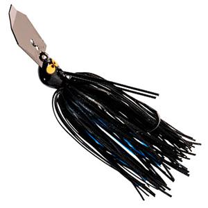 Z-MAN – Chatterbaits – CrosseyeZ – Weedless Bladed Swim Jig – 1/2oz - CBCE12-02 - BLACK BLUE