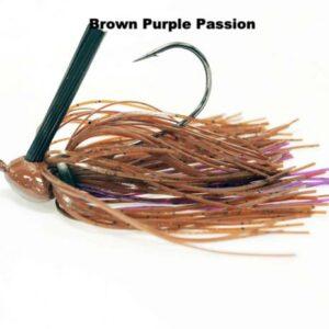Missile Baits – Ike's Head Banger Jig 1oz - MJHB1-BPP - Brown Purple Passion
