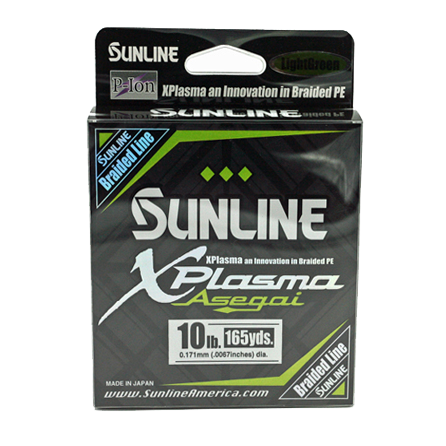 Sunline Fishing Lines – Braid – Xplasma Asegai – 165 Yard Spool
