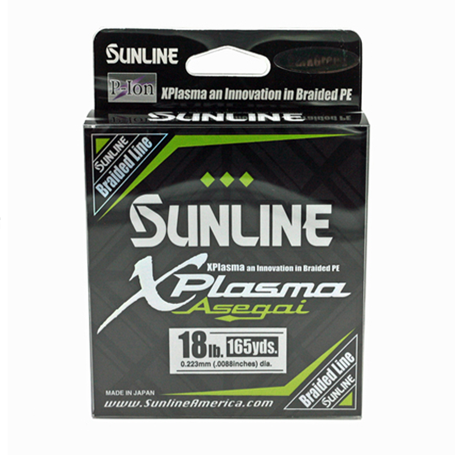 Sunline - Xplasma Asegai - 165 YD - Xplasma Asega - 18LB - Light Green