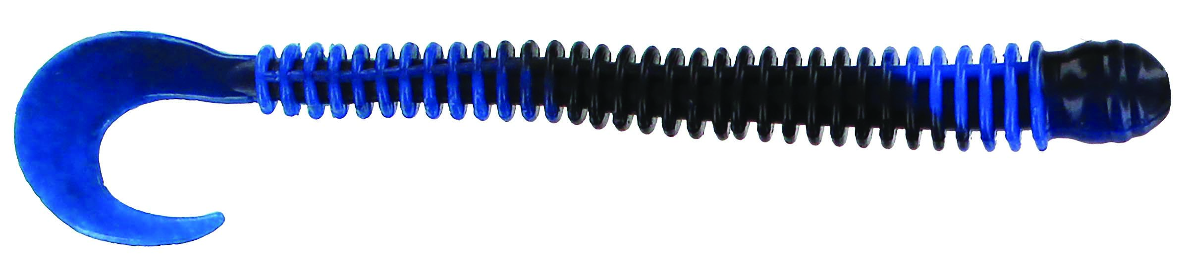 Big Bite Baits - Disc Ring Worm - 4 inch - RW-402 - BLACK BLUE SWIRL