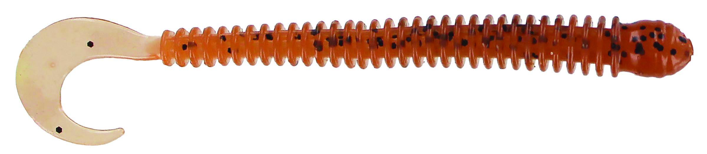 Big Bite Baits - Disc Ring Worm - 4 inch - RW-404 - PUMPKIN SEED